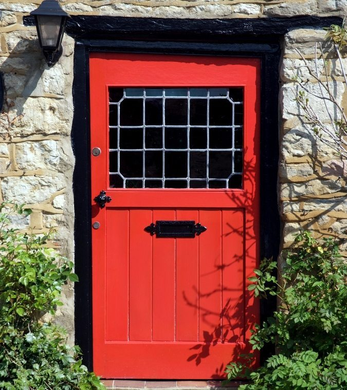 What First Impression Does Your Front Door And Walkway: First Impressions: Classic Red