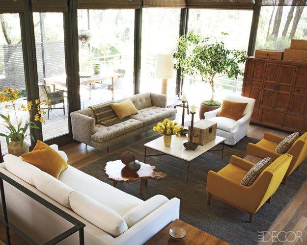 Contemporary Asian Style Room via Elle Decor