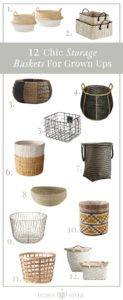 12 Chic Storage Baskets For Grown Ups