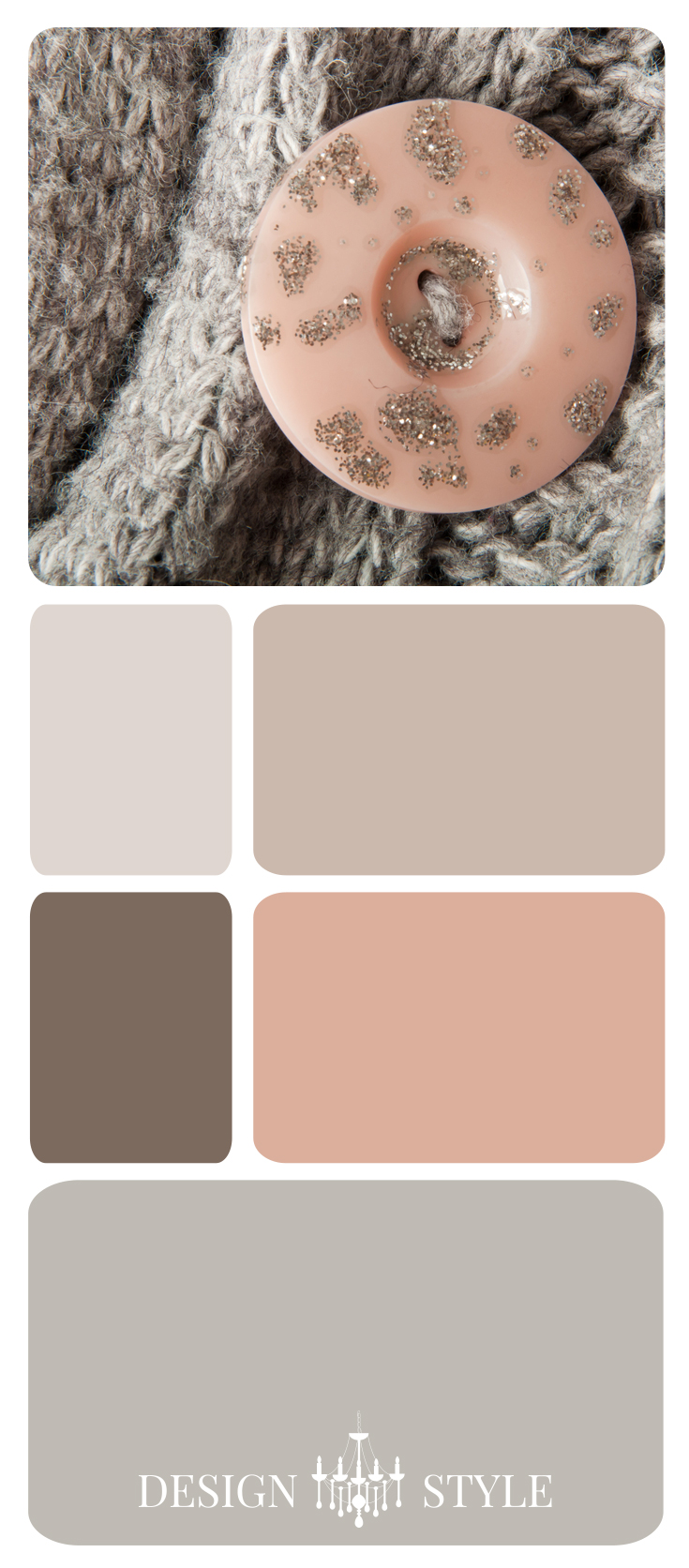 Blush Pink and Gray Color Inspiration Palette | Design Style