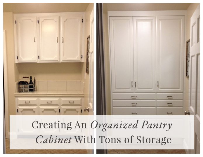 Creating An Organized Pantry Cabinet With Tons Of Storage
