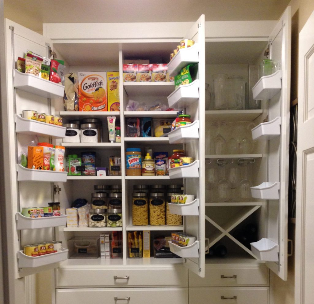 Pantry Top Cabinet Organization After