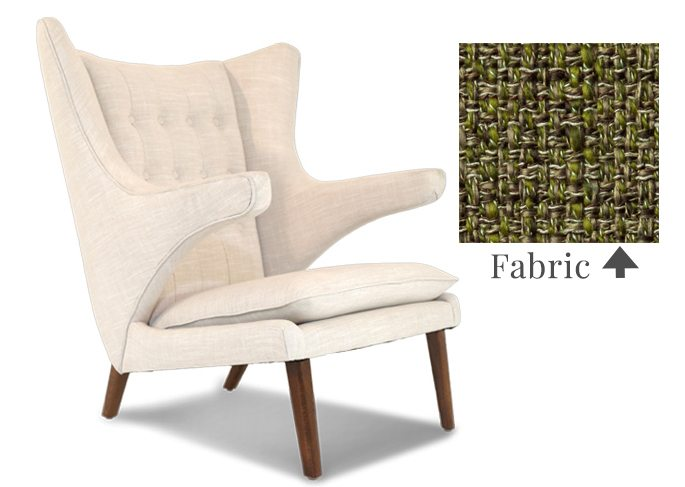Papa Bear Chair in Majestic Pesto, Thrive Furniture