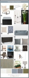 Shop This Look-Eclectic Modern Living Room