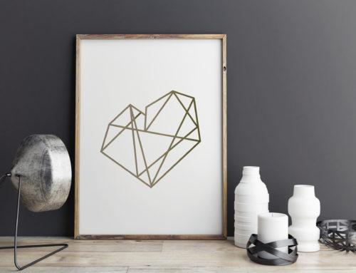 I Love February: Valentine Printable Artwork & Birthstone Art