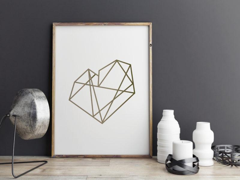 Art_Geometric_Heart_Gold_8x10_mockup3