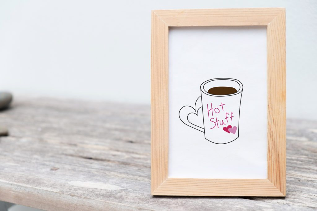 Valentine's Printable, Hot Stuff Coffee Art by DesignStylePrints on Etsy